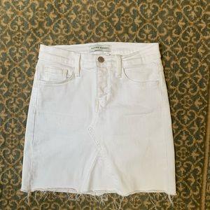 Flying Monkey White Denim Skirt size 24